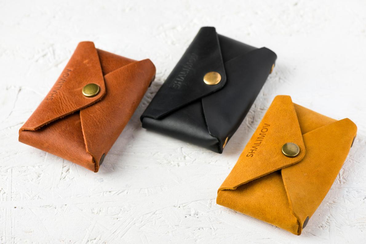 John business card holder - Shalimov leather crafts